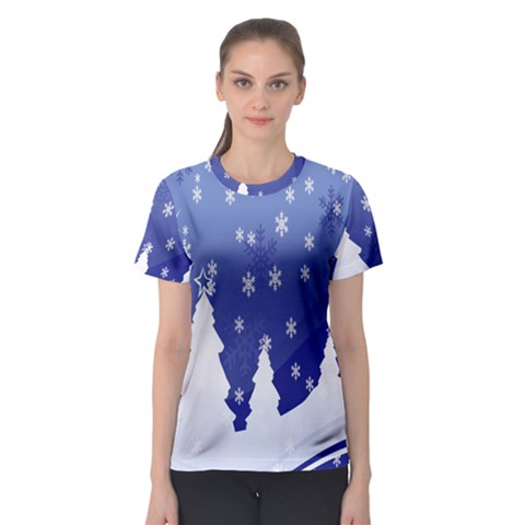 Vector Christmas Design Women s Sport Mesh Tee by Nexatart