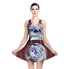 Winter Snow Ball Snow Cold Fun Reversible Skater Dress