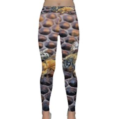 Worker Bees On Honeycomb Classic Yoga Leggings by Nexatart