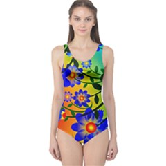 Abstract Background Backdrop Design One Piece Swimsuit by Amaryn4rt