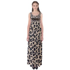 Background Pattern Leopard Empire Waist Maxi Dress by Amaryn4rt