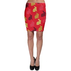 Hare Easter Pattern Animals Bodycon Skirt by Amaryn4rt
