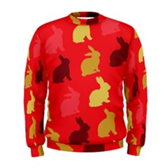 Hare Easter Pattern Animals Men s Sweatshirt by Amaryn4rt