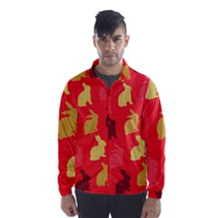 Hare Easter Pattern Animals Wind Breaker (men) by Amaryn4rt