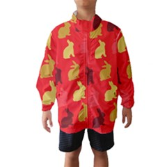 Hare Easter Pattern Animals Wind Breaker (kids) by Amaryn4rt