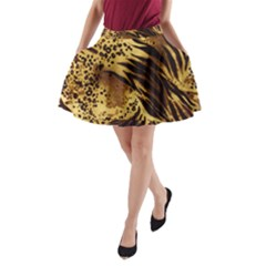 Pattern Tiger Stripes Print Animal A Line Pocket Skirt by Amaryn4rt