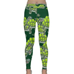 Seamless Tile Background Abstract Turtle Turtles Classic Yoga Leggings by Amaryn4rt