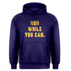 Run While You Can - Men s Pullover Hoodie by FunnySaying