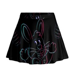 Easter Bunny Hare Rabbit Animal Mini Flare Skirt by Amaryn4rt