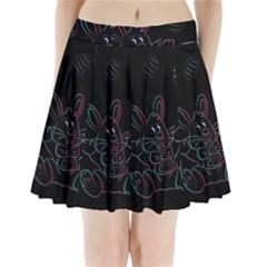 Easter Bunny Hare Rabbit Animal Pleated Mini Skirt by Amaryn4rt