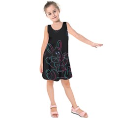 Easter Bunny Hare Rabbit Animal Kids  Sleeveless Dress by Amaryn4rt
