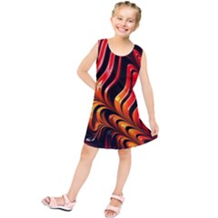 Abstract Fractal Mathematics Abstract Kids  Tunic Dress by Amaryn4rt