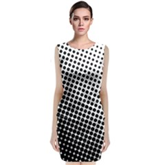Background Wallpaper Texture Lines Dot Dots Black White Classic Sleeveless Midi Dress by Amaryn4rt