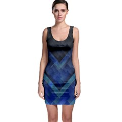 Blue Background Wallpaper Motif Design Sleeveless Bodycon Dress by Amaryn4rt