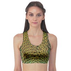 Peacock Bird Feather Gold Blue Brown Sports Bra by Alisyart