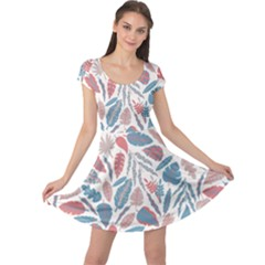 Spencer Leaf Floral Purple Pink Blue Rainbow Cap Sleeve Dresses by Alisyart