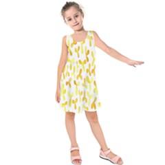 Springtime Yellow Helicopter Kids  Sleeveless Dress