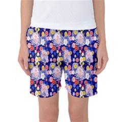 Season Flower Arrangements Purple Women s Basketball Shorts by Alisyart