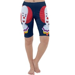 Clown Face Red Yellow Feat Mask Kids Cropped Leggings