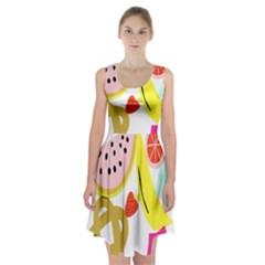 Fruit Watermelon Strawberry Banana Orange Shoes Lime Racerback Midi Dress by Alisyart