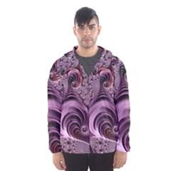 Purple Abstract Art Fractal Art Fractal Hooded Wind Breaker (men)
