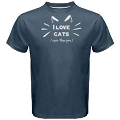 Blue I Love Cats More Than You Men s Cotton Tee