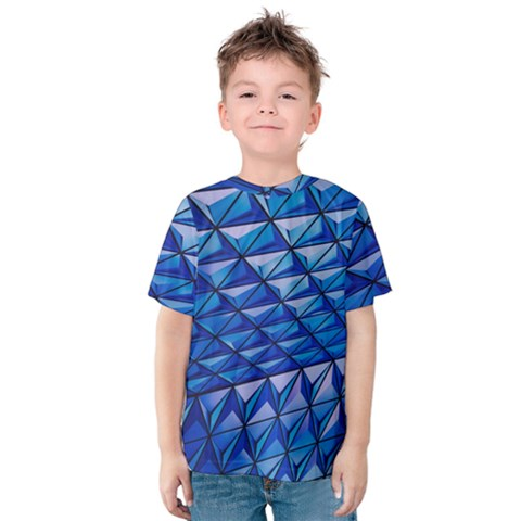 Lines Geometry Architecture Texture Kids  Cotton Tee by Amaryn4rt