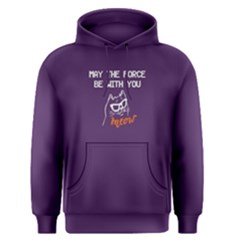 Purple May The Force Be With You  Men s Pullover Hoodie by FunnySaying