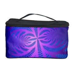 Background Brush Particles Wave Cosmetic Storage Case by Amaryn4rt