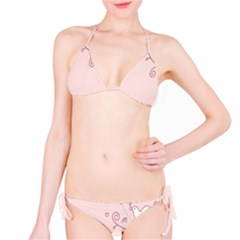 Bird City Sing Pink Notes Music Bikini Set