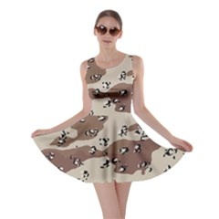 Camouflage Army Disguise Grey Brown Skater Dress