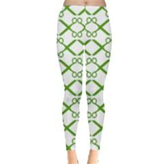 Scissor Green Leggings