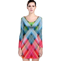 Graphics Colorful Colors Wallpaper Graphic Design Long Sleeve Velvet Bodycon Dress by Amaryn4rt
