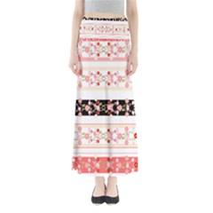 Flower Arrangements Season Floral Rose Pink Black Maxi Skirts