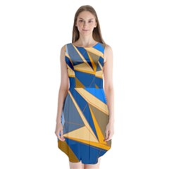Abstract Background Pattern Sleeveless Chiffon Dress   by Amaryn4rt