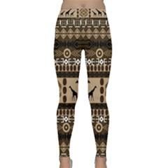African Vector Patterns  Classic Yoga Leggings by Amaryn4rt
