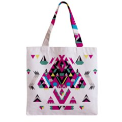 Geometric Play Grocery Tote Bag by Amaryn4rt