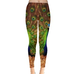 3d Peacock Bird Leggings  by Amaryn4rt