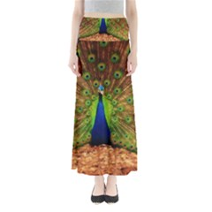 3d Peacock Bird Maxi Skirts by Amaryn4rt