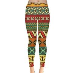 Mexican Folk Art Patterns Leggings  by Amaryn4rt