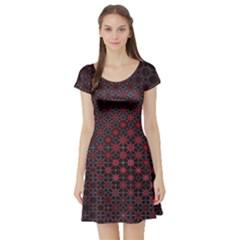 Star Patterns Short Sleeve Skater Dress by Amaryn4rt