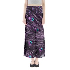 Bird Color Purple Passion Peacock Beautiful Maxi Skirts by Amaryn4rt