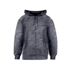 Excellent Seamless Slate Stone Floor Texture Kids  Zipper Hoodie by Amaryn4rt