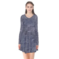 Excellent Seamless Slate Stone Floor Texture Flare Dress by Amaryn4rt