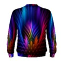 Bird Feathers Rainbow Color Pink Purple Blue Orange Gold Men s Sweatshirt View2