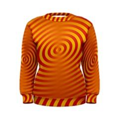 Circle Line Orange Hole Hypnotism Women s Sweatshirt by Alisyart