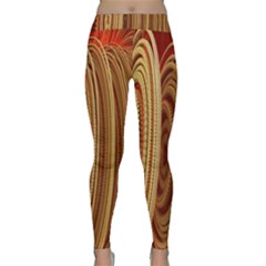 Circles Figure Light Gold Classic Yoga Leggings by Alisyart