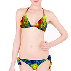 Green Jellyfish Yellow Pink Red Blue Rainbow Sea Bikini Set