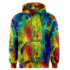 Green Jellyfish Yellow Pink Red Blue Rainbow Sea Men s Pullover Hoodie
