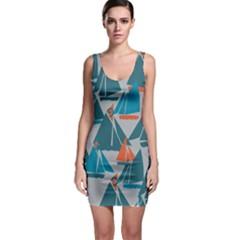 Ship Sea Blue Sleeveless Bodycon Dress by Alisyart